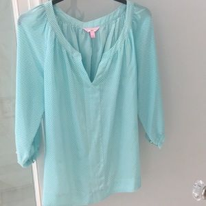 Lilly Pulitzer silk blouse size L
